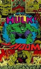 AV4-011 Marvel Comic - the incredible Hulk Shoom Fototapete
