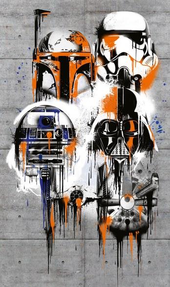AV4-022 Star Wars - feiern die Galaxie Fototapete