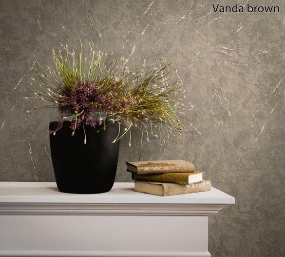 AM Klassische Tapete Vanda Braun – Bild 2