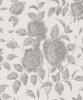 AR Blumentapete Rosalie Silbergrau