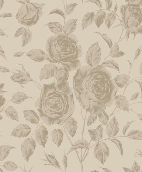 AR Blumentapete Rosalie Ecru