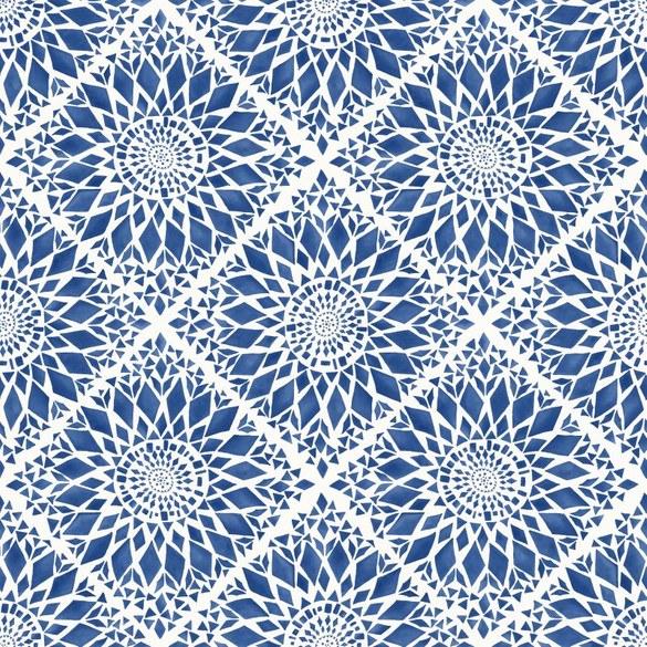 AR Ornamenttapete Joy Marineblau