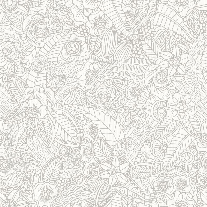 AR Ornamenttapete Fina Weiß