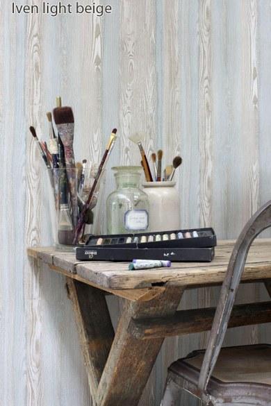 AR wood wallpaper Iven light beige