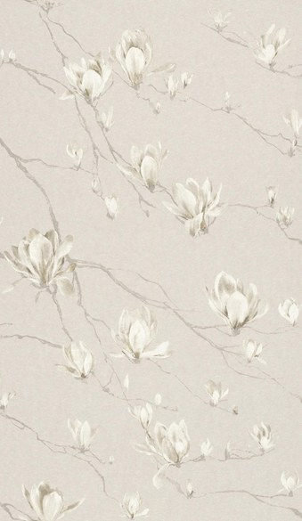 AR floral wallpaper Viola mother of pearl