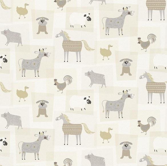wallpaper for children Leonie taupe