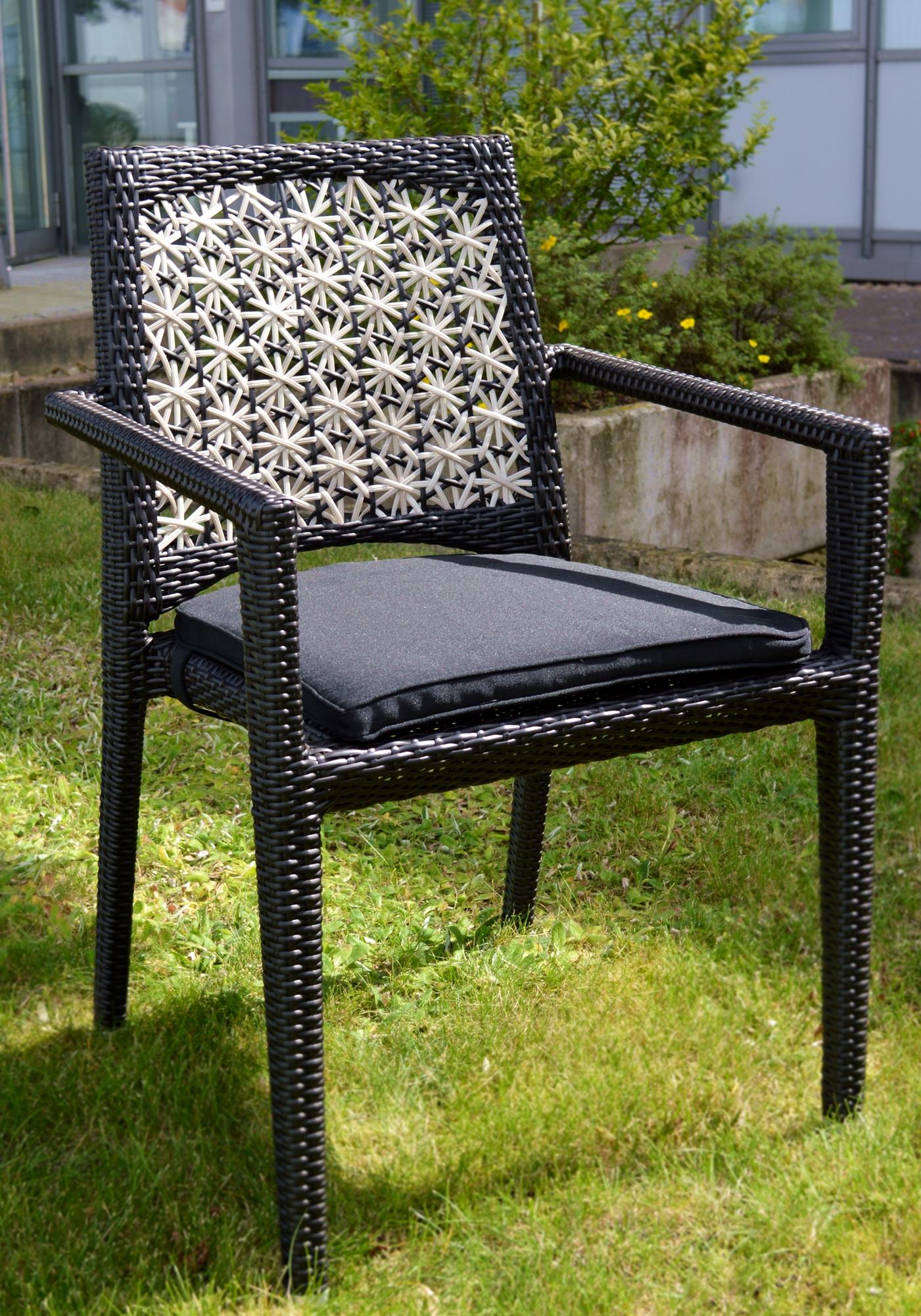 4er set geflecht gartenst hle fiorana inkl auflage von garvida gartenm bel st hle sessel. Black Bedroom Furniture Sets. Home Design Ideas