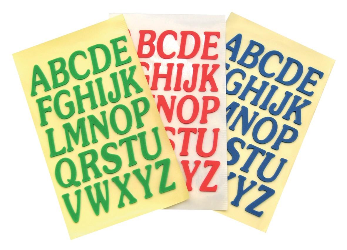 Moosgummi, selbstklebende Buchstaben Basteln Moosgummi