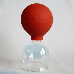Schröpfgläser 3 im SET 25 35 45 mm Schröpfglas mit Saugball Bild 4