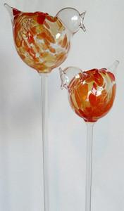 2 Durstkugeln Durstkugel Bewässerungskugeln Vögel Orange
