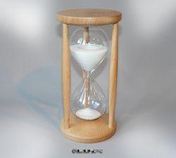 Sanduhr Stundenglas Buche Natur 60 Minuten Sanduhren