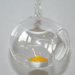 Windlichtkugel für Teelicht 10 cm Hängewindlicht Windlicht Glaskugel Bild 2