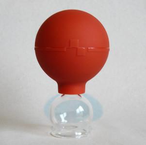 Schröpfgläser Schröpfglas 3 Stück im Set 25 mm mit Saugball zum Schröpfen