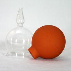 Schröpfgläser Schröpfglas 3 Stück im Set 25 mm mit Saugball zum Schröpfen Bild 2