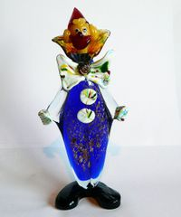 Glasfigur Clown blau Glasfiguren NEU 001