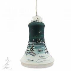 Elektrisch Beleuchtete Glocke Christbaumkugel Weihnachtskugeln 18 cm von Hand bemalt Bild 10