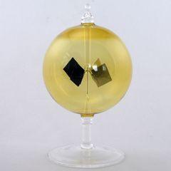 Lichtmühle Solar Radiometer kurzer Fuß 100 mm Gelb