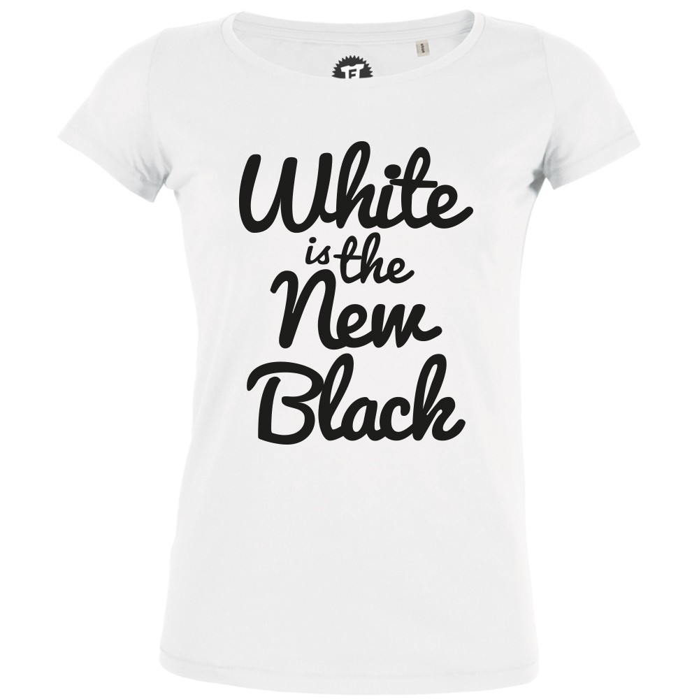 White is the New Black - Frauen T-Shirt