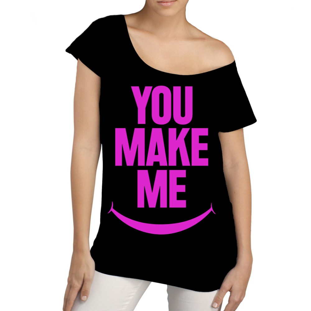 YOU MAKE ME SMILE - Frauen Longshirt