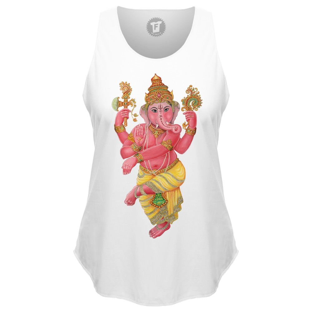 Ganesha - Loose Tank Top runder Bund