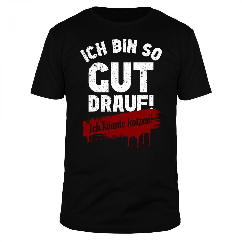 Ich bin so gut drauf! Ich könnte kotzen! - Männer Organic T-Shirt