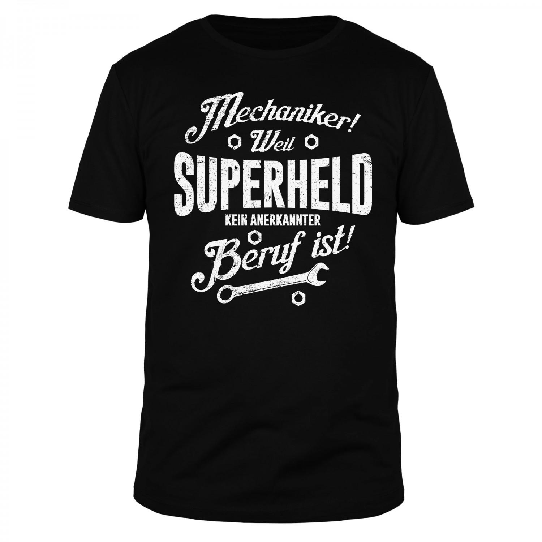 Mechaniker weil Superheld - Männer T-Shirt