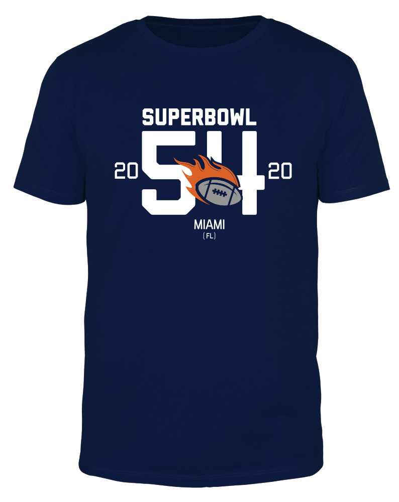 Superbowl 54 Burning Football - Männer Organic T-Shirt