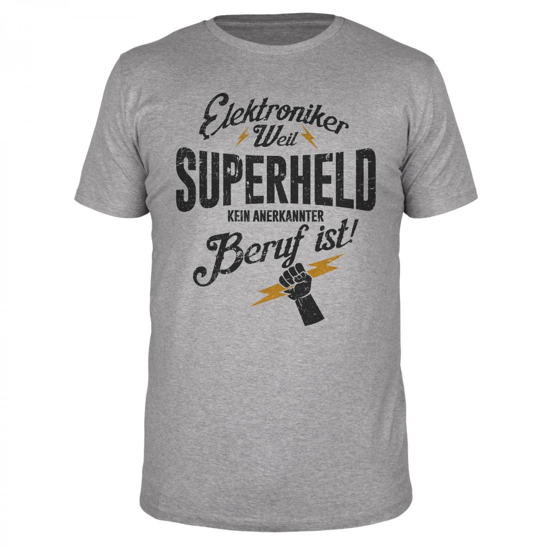 Elektroniker weil Superheld - Männer T-Shirt