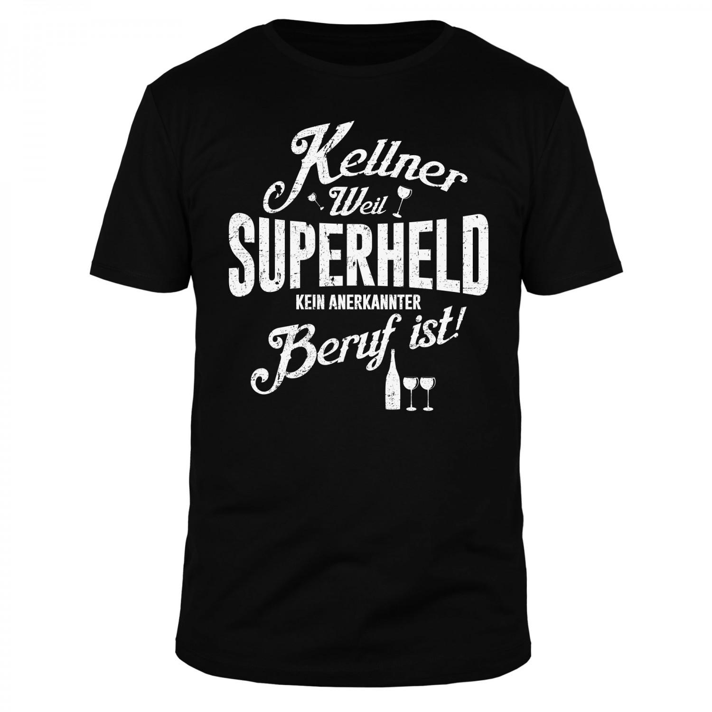 Kellner Superheld - Männer T-Shirt