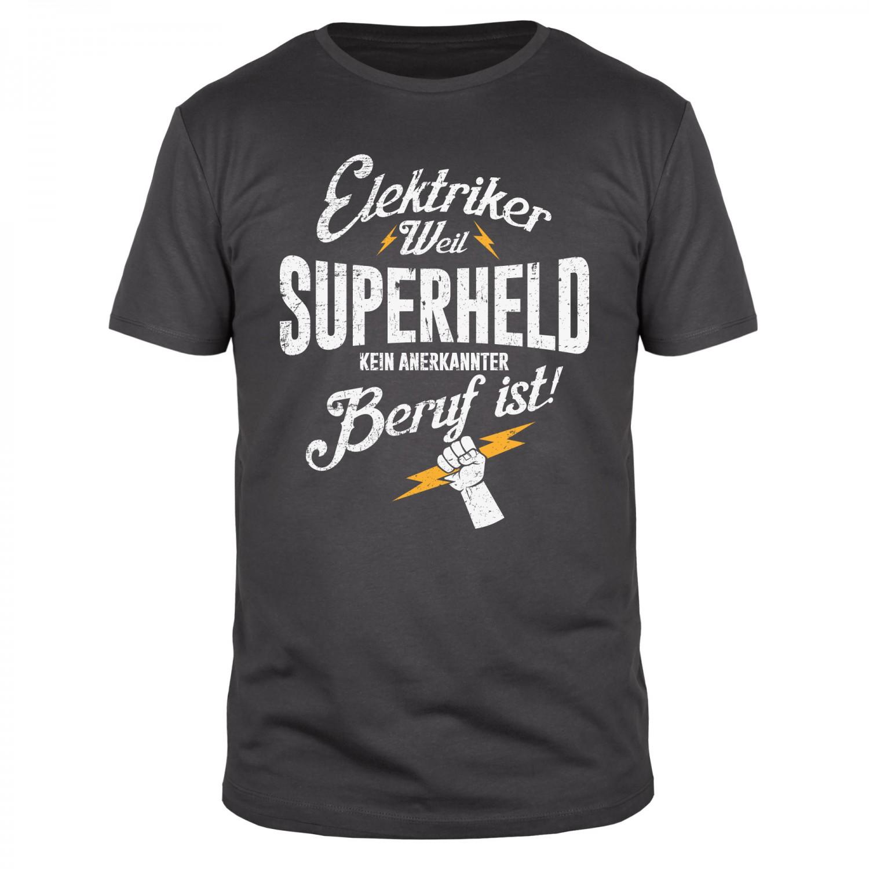 Elektriker weil Superheld - Männer T-Shirt