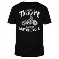 Some need Therapy I have my Motorcycle - Männer T-Shirt