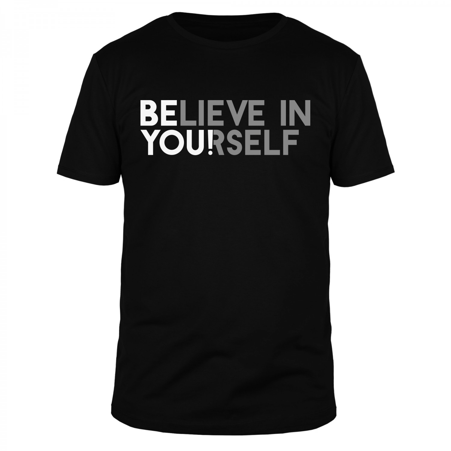 Believe in yourself - Männer Organic T-Shirt