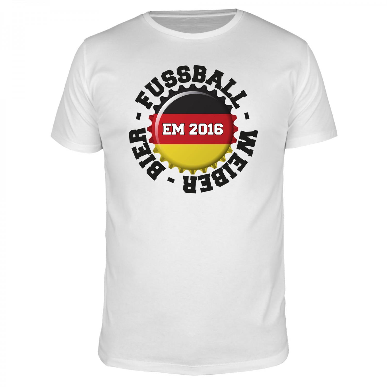 Fussball - Weiber - Bier - Fußball EM - Männer T-Shirt