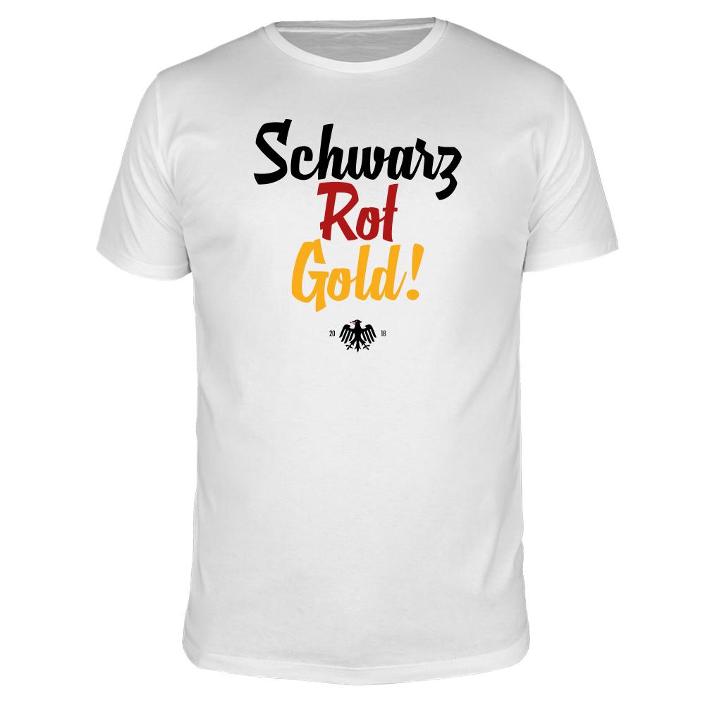 Schwarz Rot Gold - Fußball WM - Männer T-Shirt