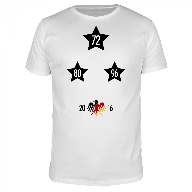 Sterne 72 80 96 - Fußball EM - Männer T-Shirt