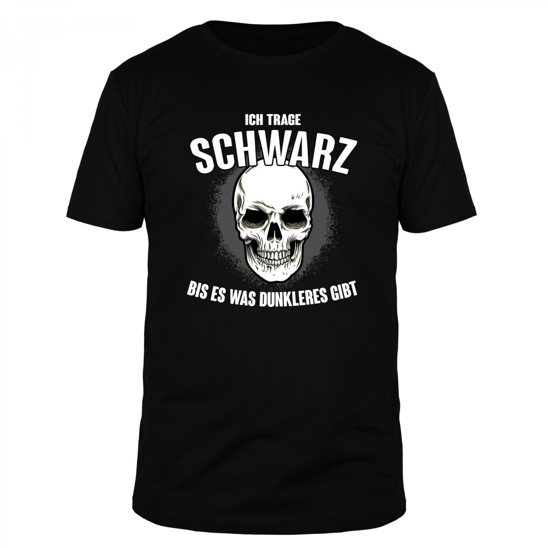 Ich trage Schwarz bis es was dunkleres gibt - Männer T-Shirt
