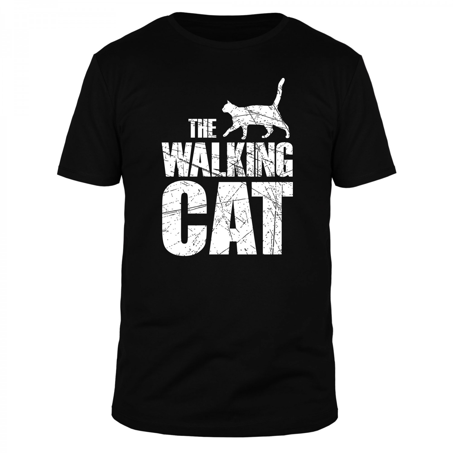 The Walking Cat Vintage- Männer Organic T-Shirt