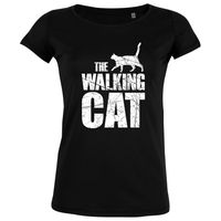The Walking Cat Vintage - Frauen Organic T-Shirt