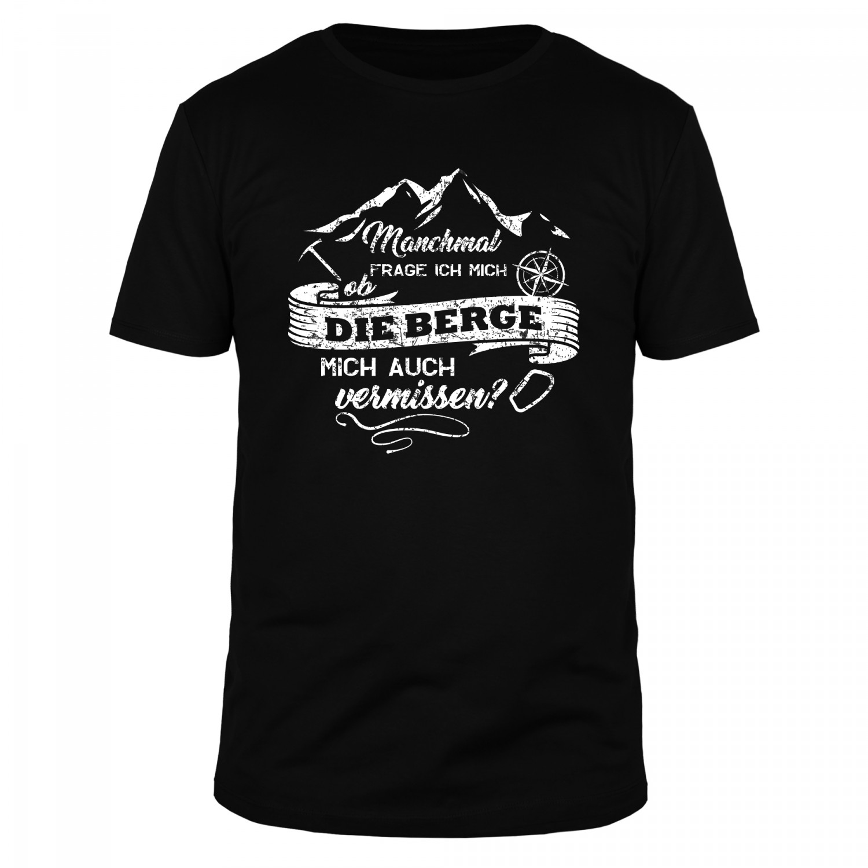Manchmal frage ich mich ob die Berge mich auch vermissen - Männer Organic T-Shirt