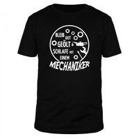 Bleib gut geölt, schlafe mit einem Mechaniker - Männer T-Shirt