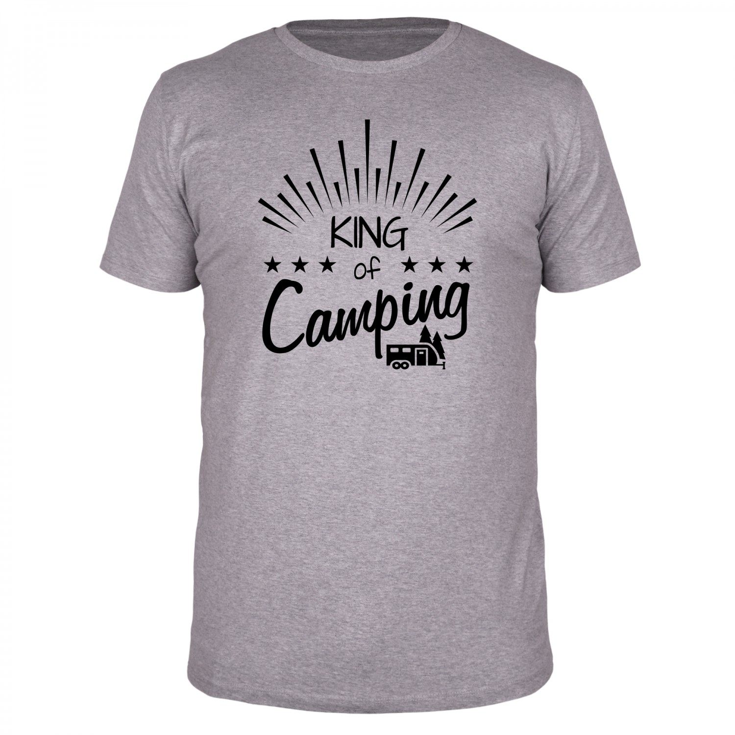 King of Camping - Männer Organic T-Shirt