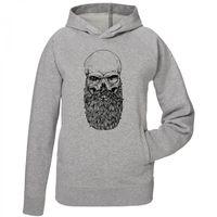 Skull Beard - 100% Bio-Baumwolle - Männer Hoodie