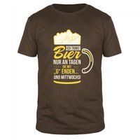 Ich trinke Bier an tagen, die mit  G  enden! - Männer Organic T-Shirt