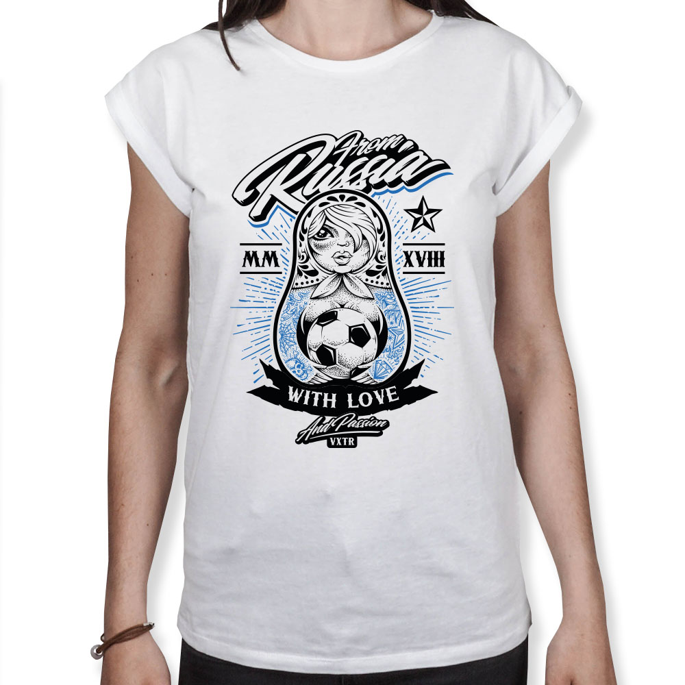 From Russia with Love - Fußball WM - Damen T-Shirt