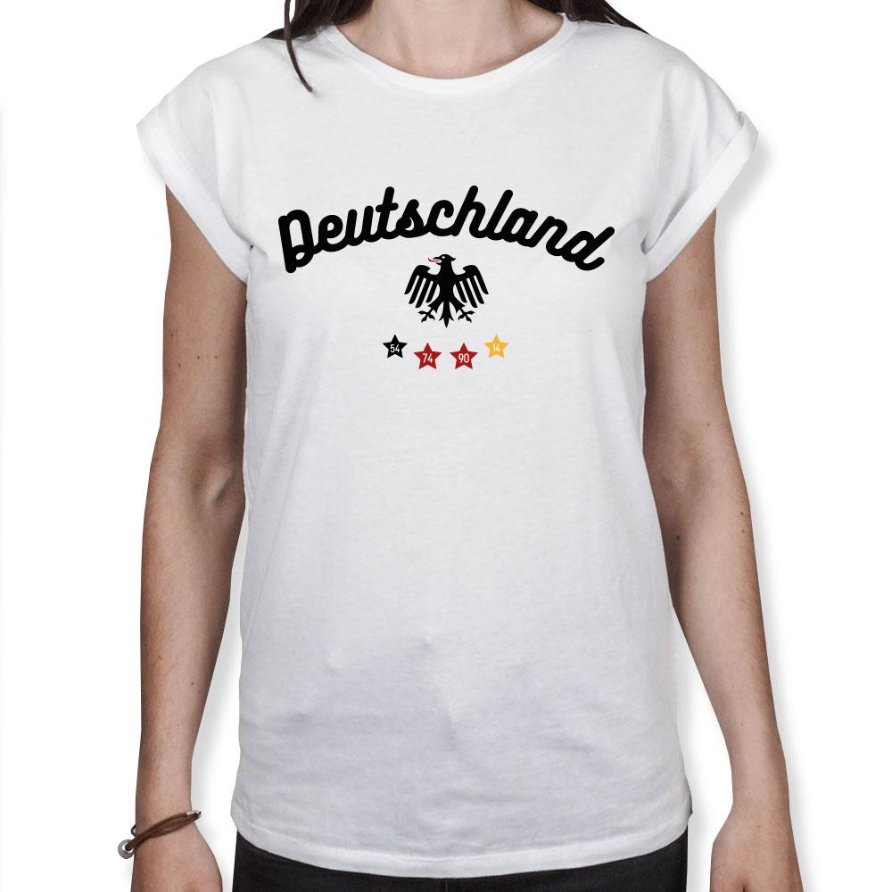 Deutschland Adler Sterne - Fußball WM - Damen T-Shirt