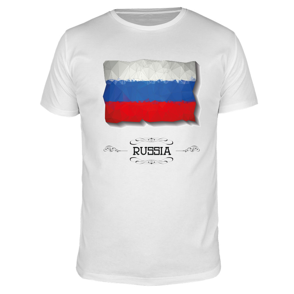 Russia Flag - Kinder T-Shirt