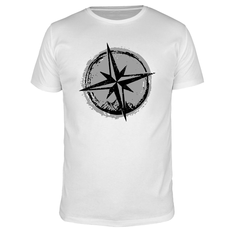 Kompass Berge - Männer Organic T-Shirt