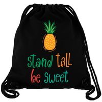Stand Tall Be Sweet - Ananas - Gym Bag Turnbeutel
