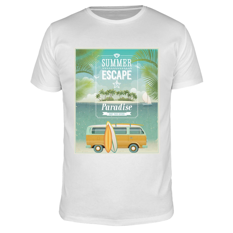 Summer Escape Paradise - Männer Organic T-Shirt
