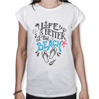 Life Is Better At The Beach - Damen T-Shirt